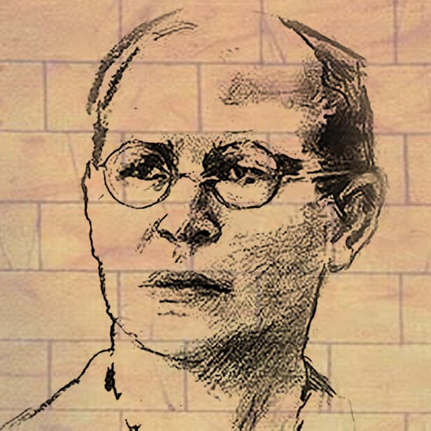 Charcoal drawing of Dietrich Bonhoeffer