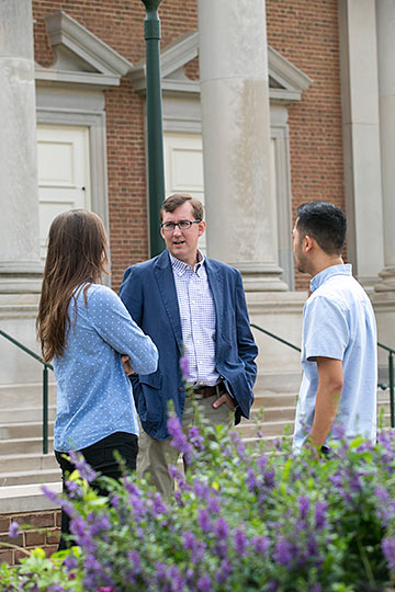 Beeson Professor Talking with Students