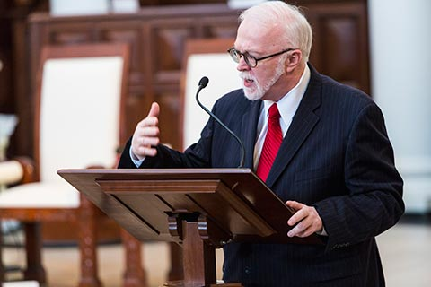 Dean Timothy George in Hodges Chapel