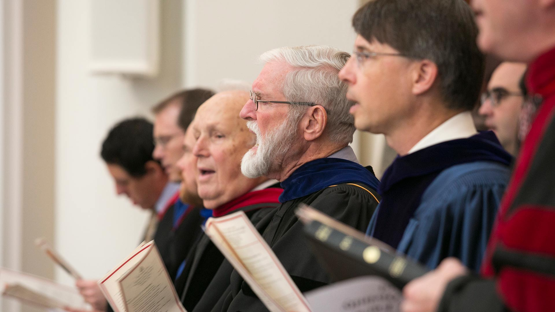 beeson professors singing in worship