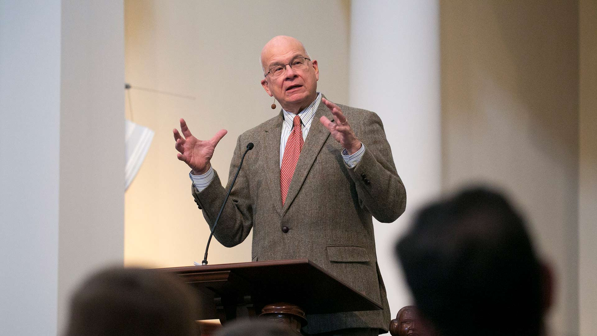 tim keller lecturing at beeson